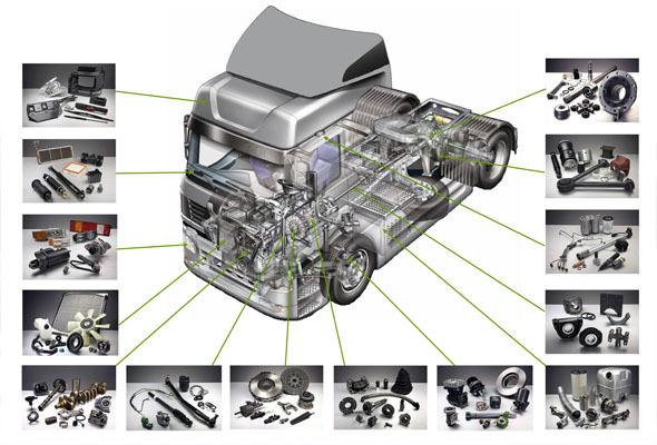 запчасти б/у к грузовым авто евро 3,4,5,6 Daf,Volvo,Renaut Magnum Premium,Scania,Man